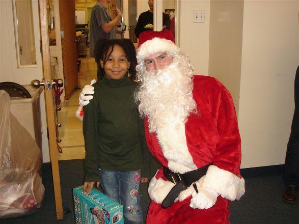 Gabriella and Santa (Chris Kelly)
