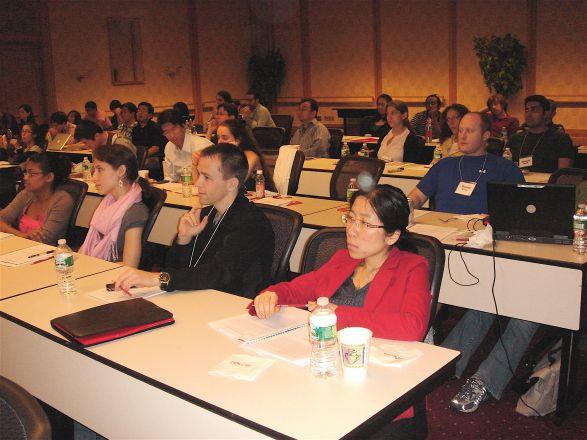 1st row: students: Tharu Fernando, Stephanie Cordato, Michael Boice and Rui Wang