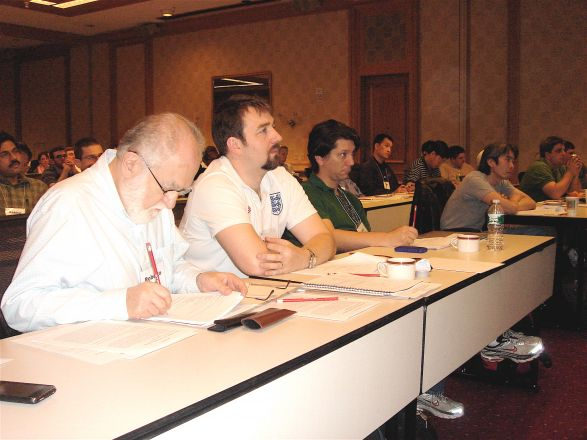 1st row: Drs. Roberto Levi, Geoff Abbott and Luca Cartegni