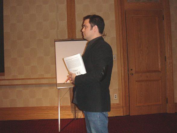 Dr. Karl Herold, Moderator for an oral presentation session