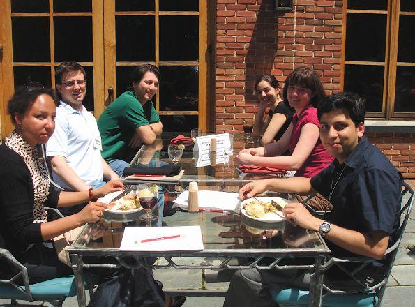Drs. Dilhas, Maciej Walczak, Luca Cartegni, students Naira Rezende, Kasia Marcinkiewicz