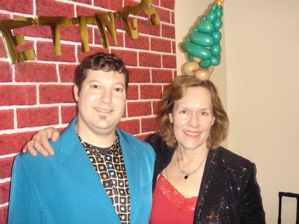 "Todd the ""Balloon Guy"" and Dr. Lorraine Gudas"