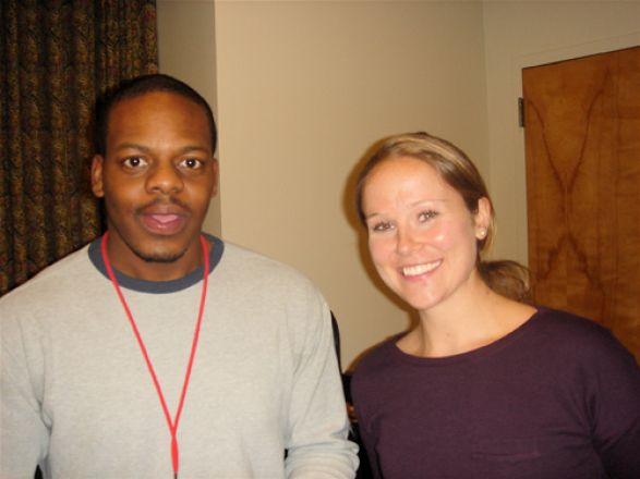 Dr. Kwame Osei-Sarfo and Megan Ricard