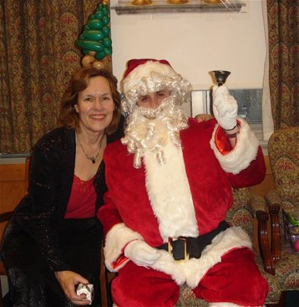 Dr. Gudas and Santa!