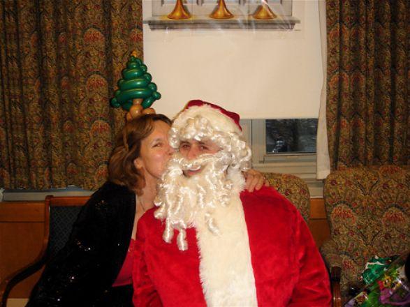 Dr. Lorraine Gudas and Santa!