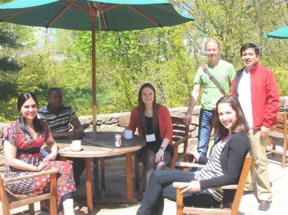 Drs. Frances Gratacos, Kwame Osei-Sarfo, grad student Abby Hortsmann, Drs. Alison Urvalek, Kristian Laursen, and Ronald Perez
