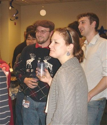 Students and faculty enjoy Holiday Party 2011.