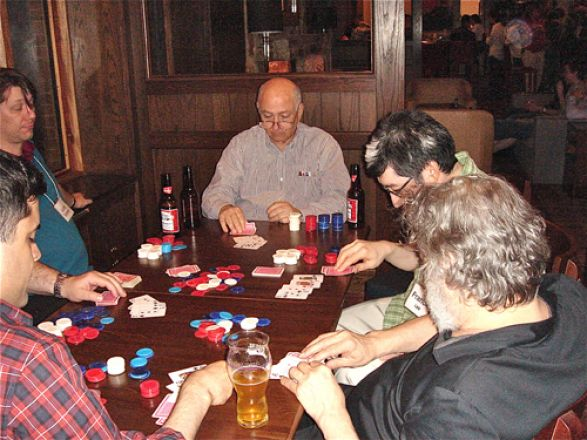 Group playing cards.