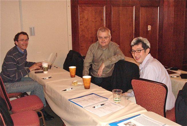 Drs. Hugh Hemmings, Jochen Buck and Francis Lee