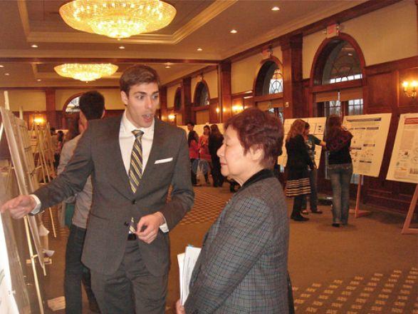 Alec Veach and Dr. Michiko Okamoto