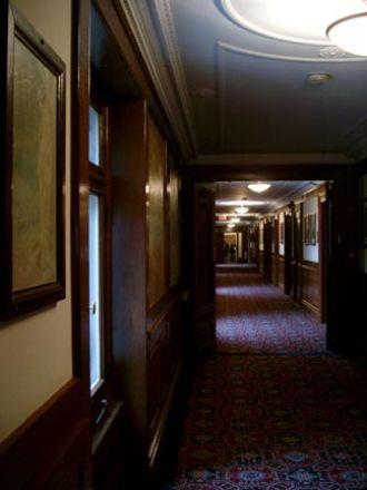 View of an antique hallway.