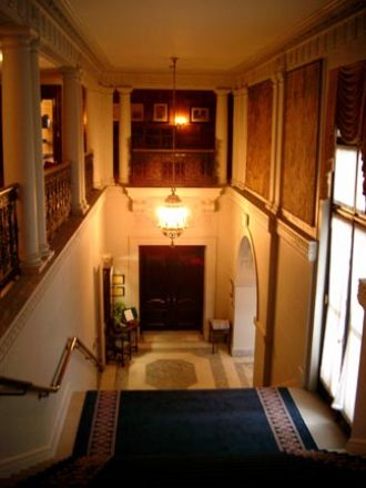 View of a grand staircase.
