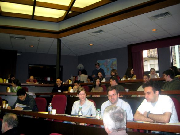 Attendees listen to a talk during the symposium.