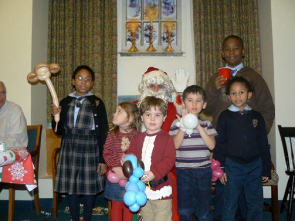 Pharm kids with Santa!