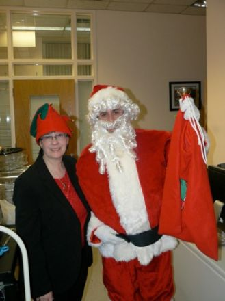 Chris Conti and Santa