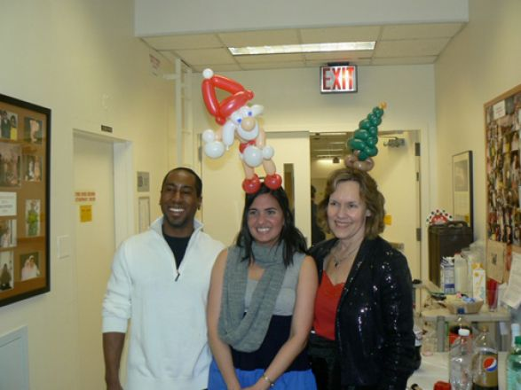 Students and faculty enjoy Holiday Party 2010.