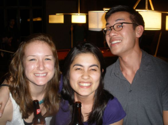 Abby Horstmann, Julia Silveira and Paul Jeng