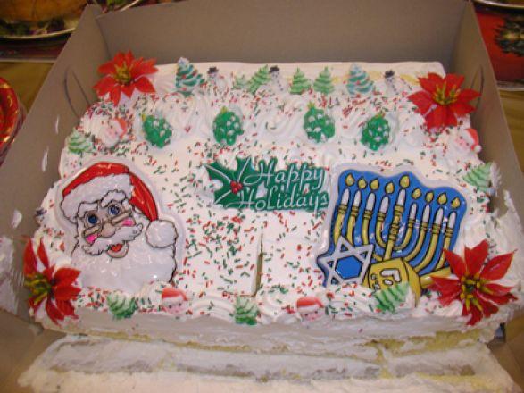 Cake at Holiday Party 2005.