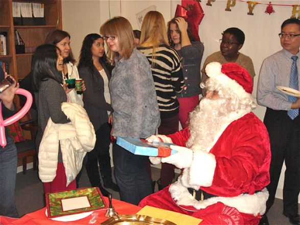 Students and faculty enjoy Holiday Party 2012.