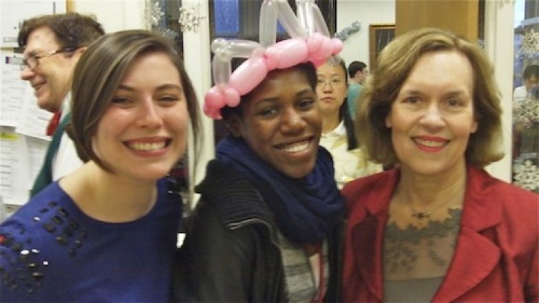 Students and faculty enjoy Holiday Party 2014.