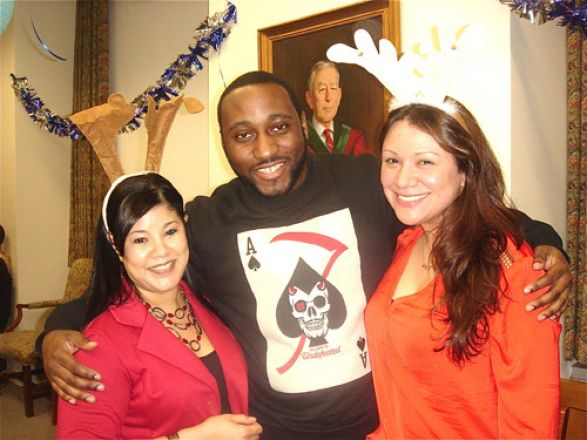 Students and faculty enjoy Holiday Party 2013.