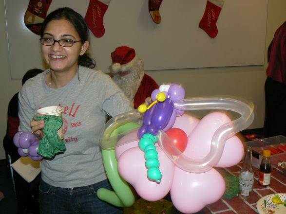Students and faculty enjoy Holiday Party 2008.