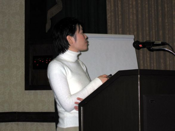 Professor giving a lecture.