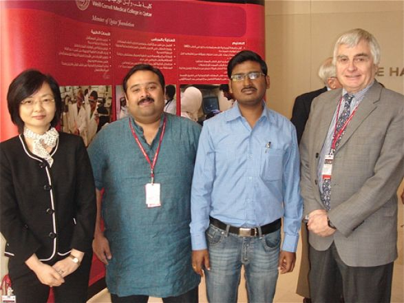 Dr. Hong Ding, Pharmacology faculty; Dr. Samson Mathews Samuel; Dr. Rohit Upadhyay; Dr. Chris Triggle, Pharmacology faculty