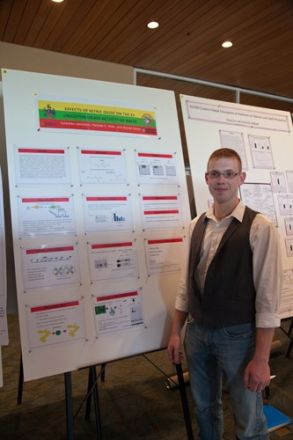Man standing near presentation.