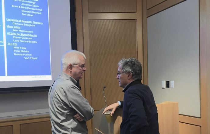 Dr. Jochen Buck spoke on October 16, 2018, about his research with Dr. Lonny Levin; the seminar was titled: Development of new tools for studying sAC biology.