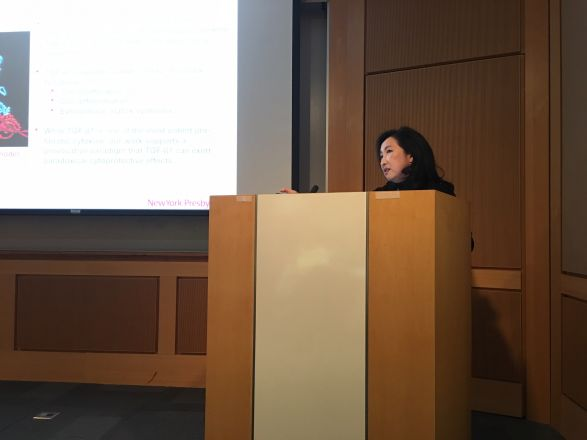 "Dr. Mary Choi, Dept. of Medicine, Weill Cornell, presented a fascinating seminar titled on November 1, 2016: ""Autophagy and Necroptosis Pathways in Kidney Fibrosis""."