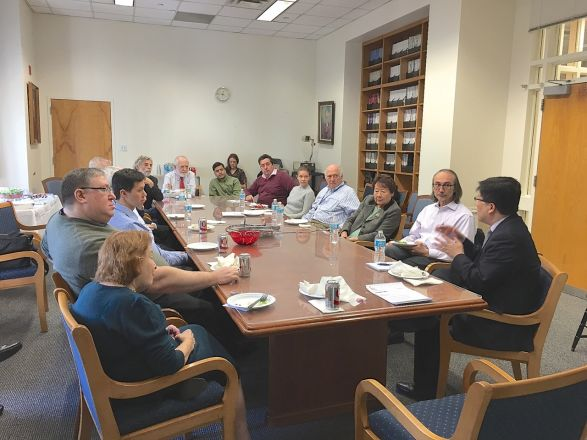 Dean Augustine M.K. Choi, who was newly elected the Stephen & Suzanne Weiss Dean of Weill Cornell Medicine and Cornell University's provost for medical affairs joined the Pharmacology Faculty Meeting on Tuesday, February 14, 2017.