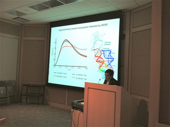 "Dr. Adrian Ferre-D'Amare, from NHLBI, spoke on April 10, 2012, on ""Riboswitches, Versatile RNA Regulators of Gene Expression."""