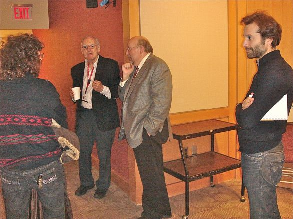 Dr. Steve Clinton (Ohio State) presented a great seminar on vitamin D and cancer on December 17, 2013. Here Dr. Clinton (center) discusses his work with interested scientists after his seminar.