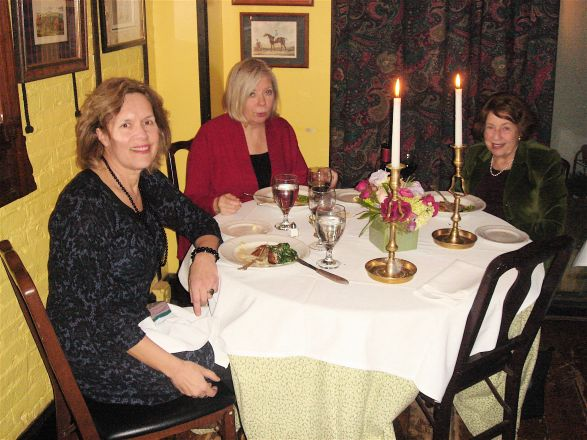 Drs. Lorraine Gudas, Bonnie Sloane (seminar speaker, Chair of Pharmacology Department at Wayne State University) and Arleen Rifkind have dinner after Dr. Sloane's seminar. February 2, 2010
