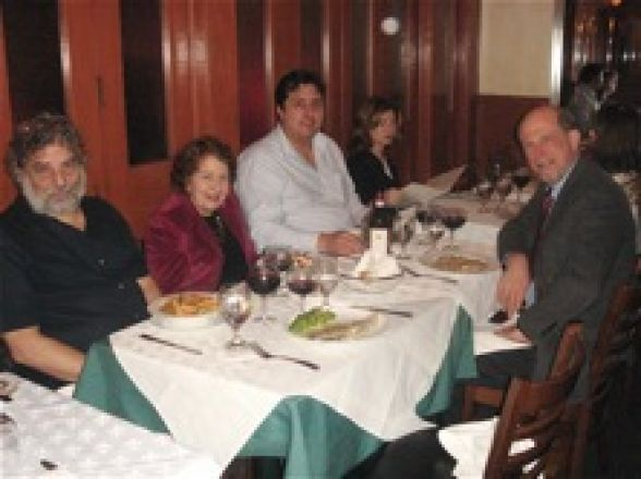 Drs. Gross, Rifkind, Sauve, and the Pharmacology Invited Seminar Speaker, Dr. Guengerich, at dinner after the seminar on November 30, 2010.