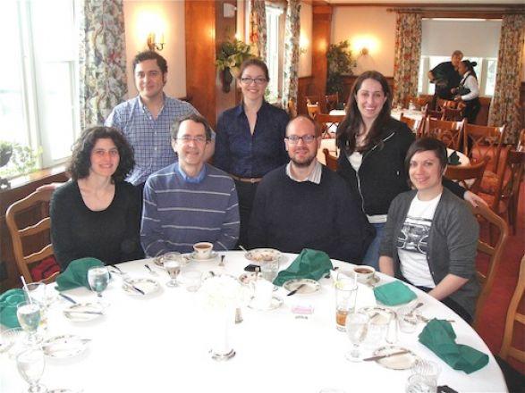 Dr. Hemmings lab, sitting: Drs. Tamar Macharadze, Hugh Hemmings, Joel Baumgart, Rheanna Sand; Standing: Dr. Karl Herold, Kerry Purtell and Christina Bonvicino