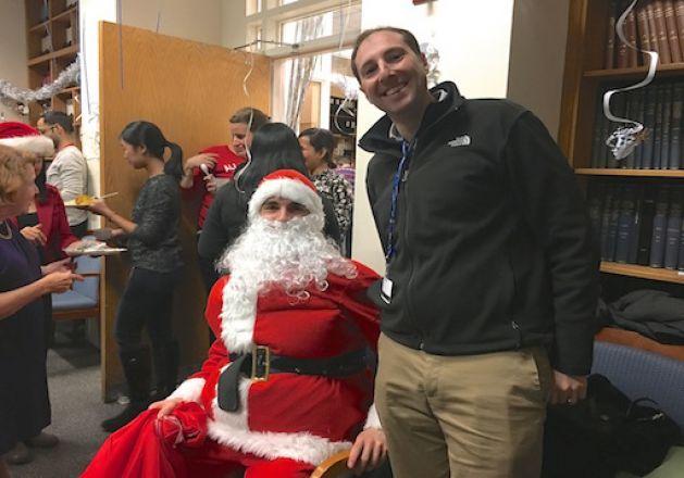 Santa at 2017 Holiday party.