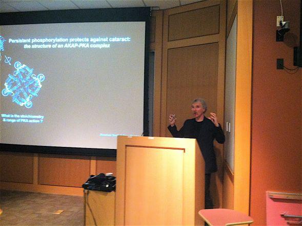 Dr. John Scott, Pharmacology Dept., Univ. of Washington, presents his work on April 15,2014.