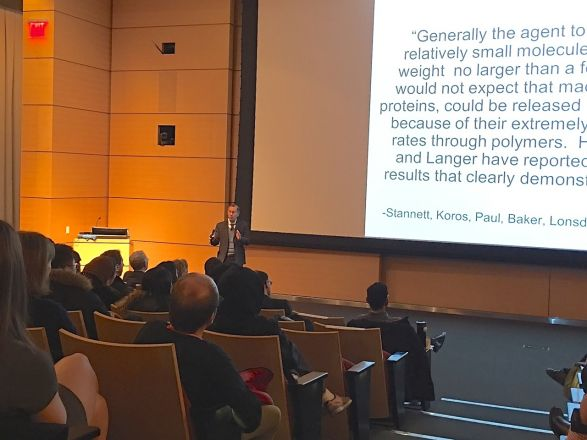 The DuVigneaud PhD Research Symposium was held on April 3, 2018. Dr. Robert Langer, Professor at MIT, was the keynote speaker.