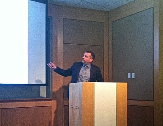 "Dr. Jason Lewis, Chief of Radiochemistry & Imaging Service at Memorial Sloan Kettering, started off our Pharmacology Dept. 2015-16 seminar series with a talk titled: ""Interrogating Cancer with Precision Radiopharmaceuticals and PET"" on September 22, 2015."