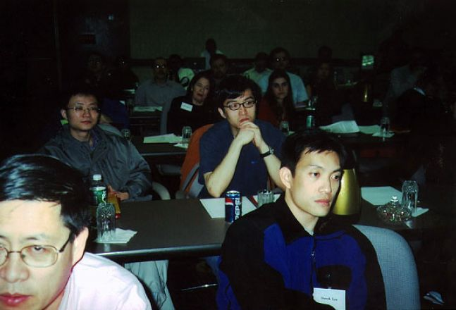 Students sitting in a classroom.