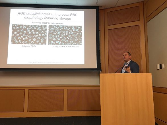 "Dr. David Spiegel (Yale Univ.) gave a wonderful seminar titled ""Using Small Molecules to Engineer and Explore Human Immunity"" on October 29, 2019! Here is a picture from his talk."