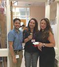 Students enjoy the ice cream social.